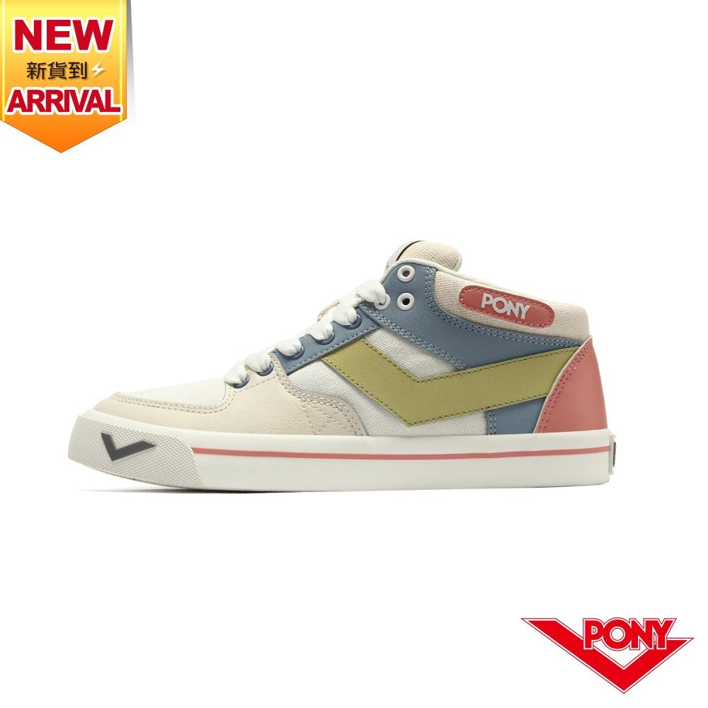 【PONY】ATOP 潮流玩色滑板鞋 女鞋-米黃