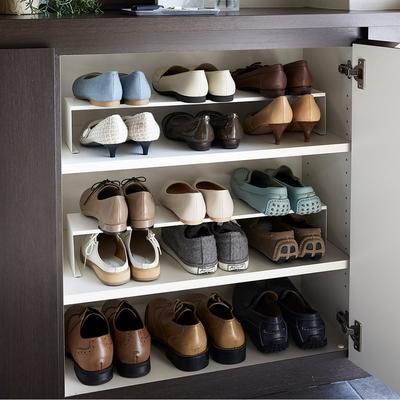 日本【YAMAZAKI】tower鞋櫃分層架(白)2件組★日本百年品牌★玄關收納 /鞋架/客廳收納