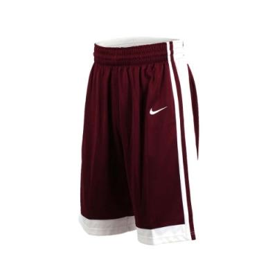 NIKE 男籃球針織短褲-路跑 慢跑 訓練 五分褲 酒紅