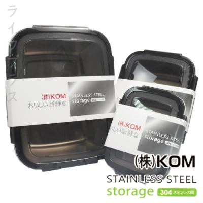 #304不鏽鋼保鮮盒-2800ml/850ml/350ml-三入x2組