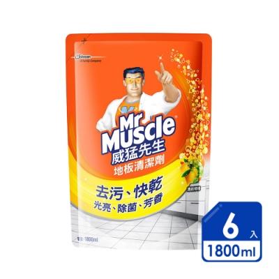 威猛先生 愛地潔地板清潔劑1800ml檸檬(6入/箱)
