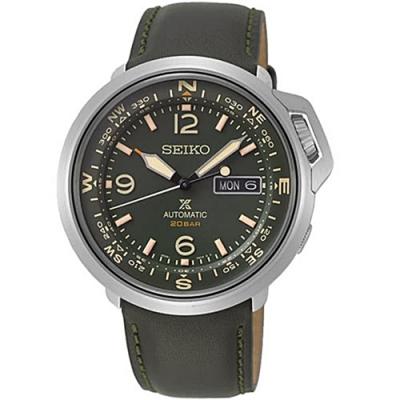 SEIKO精工PROSPEX復古機械皮錶-軍綠(4R36-07A0G/SRPD33J1)