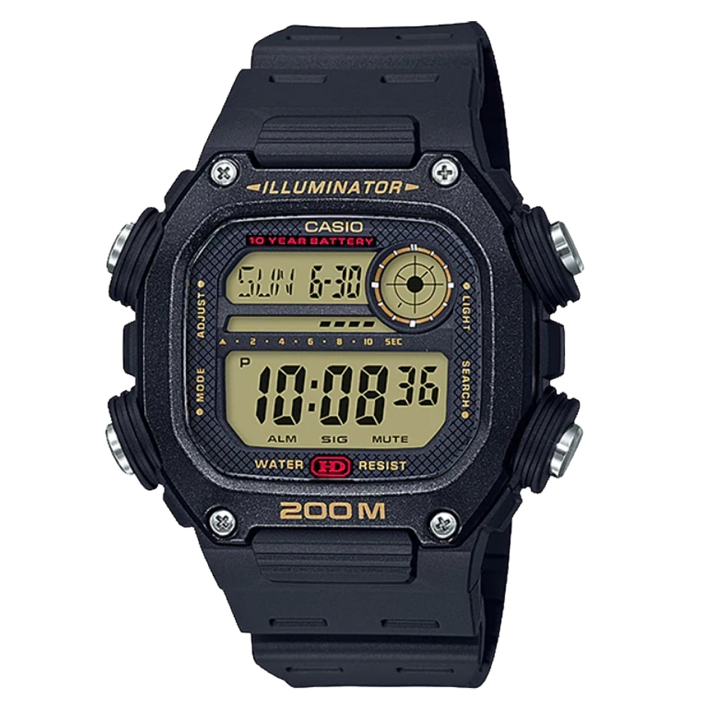 CASIO Youth 數碼運動電子腕錶-黑(DW-291H-9AVDF)