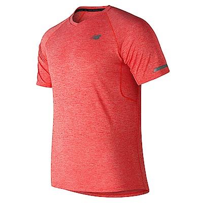 New Balance 短袖上衣  AMT81202FLM 男性 橘色