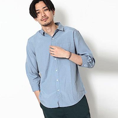 標準領襯衫素色條紋(10色) ZIP日本男裝