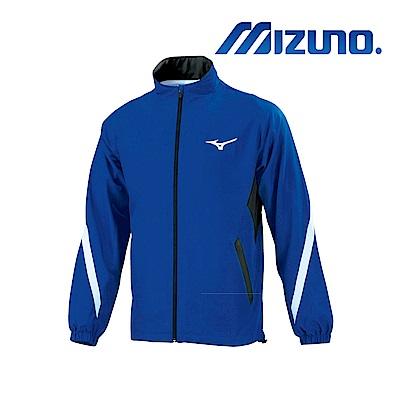 MIZUNO 美津濃 男平織運動外套 藏藍x黑 32TC908615