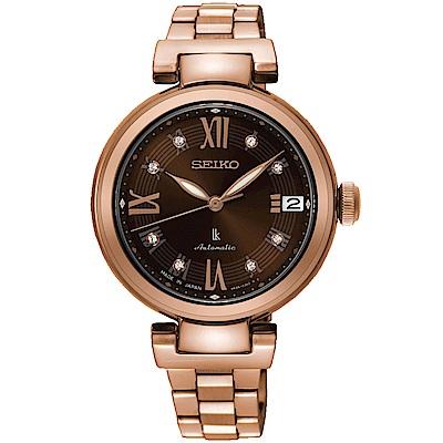 SEIKO精工LUKIA璀璨時尚限量機械腕錶(SRP844J1)-咖啡
