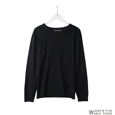 WHALE JEANS 男款韓風素色編織感針織毛衣