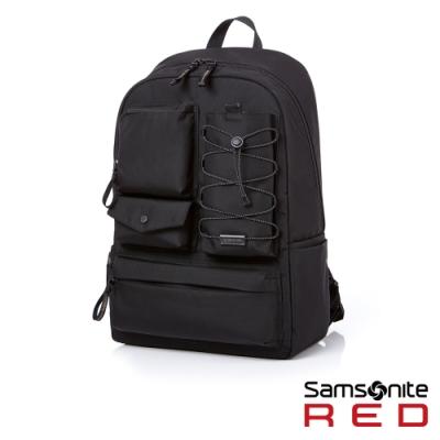 Samsonite RED MIRRE 時尚造型可拆卸筆電收納後背包15.6吋(黑)