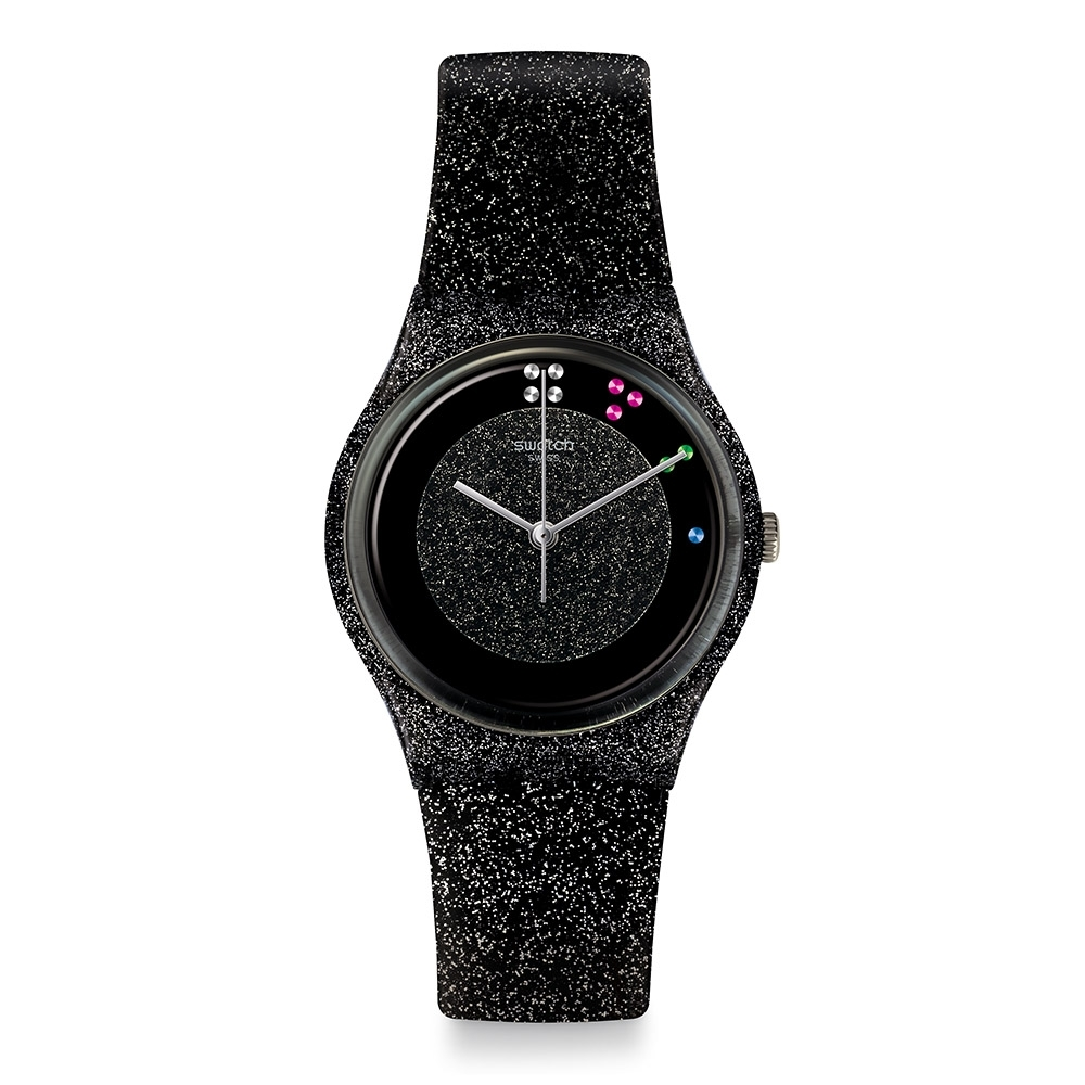 Swatch X'Mas 系列手錶 SCINTILLANTE 黑色耶誕 -34mm
