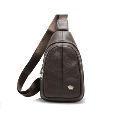 DRAKA達卡 - 路易XIV系列- 牛皮單肩斜背胸包-暗咖啡