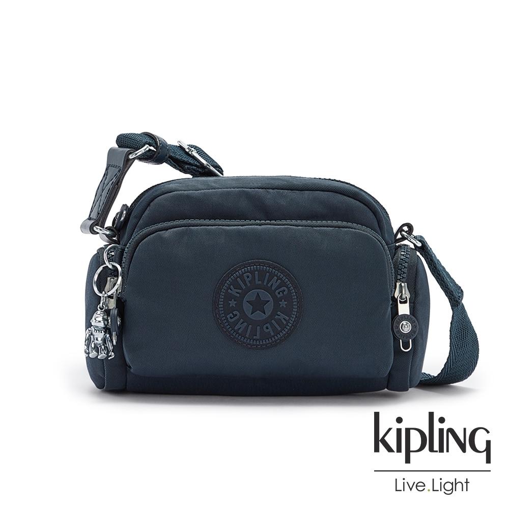 Kipling 北極深海藍好收納隨身斜背包-JENERA MINI