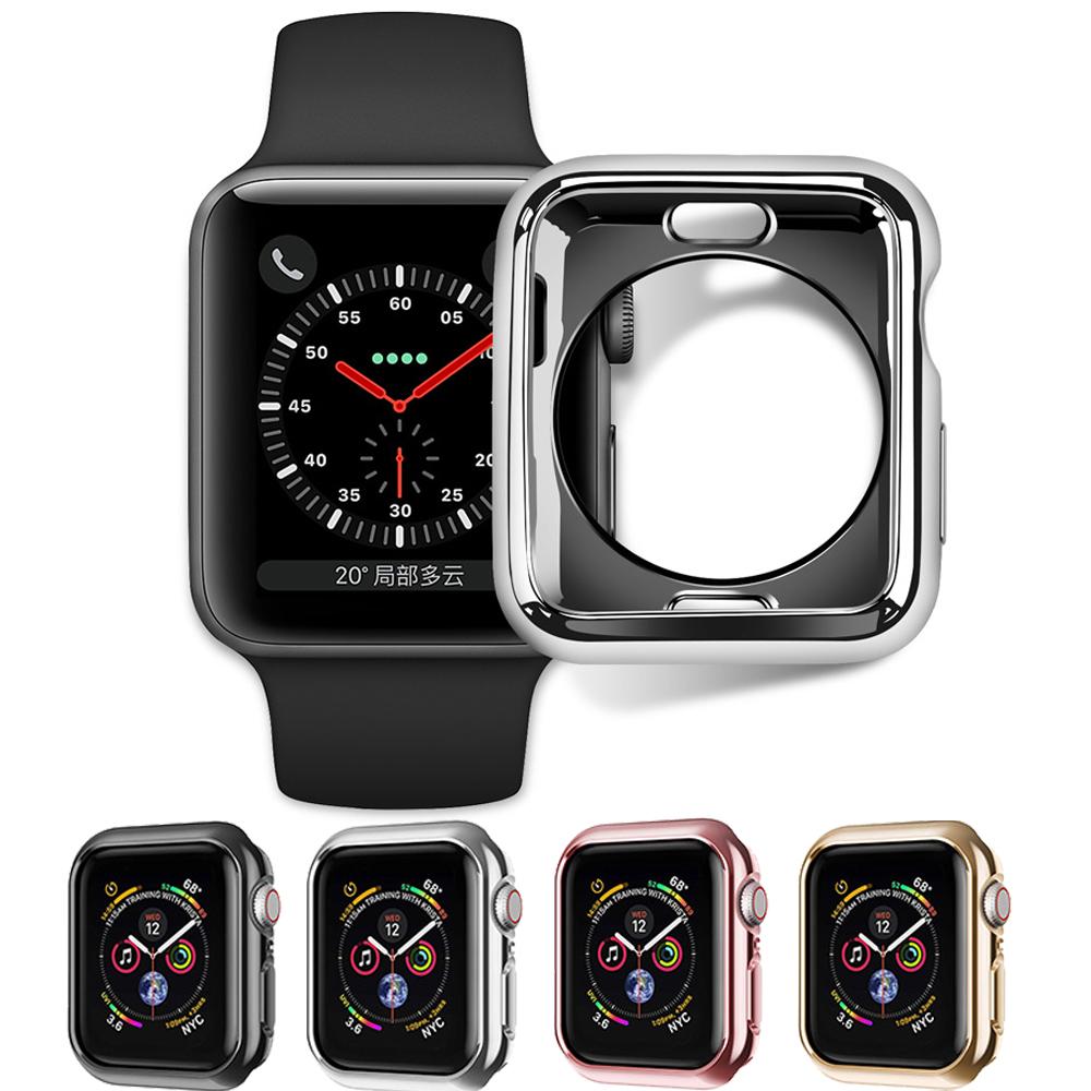 Apple Watch 4代 保護殼 超薄防摔 電鍍全包 硅膠軟殼 手錶保護套