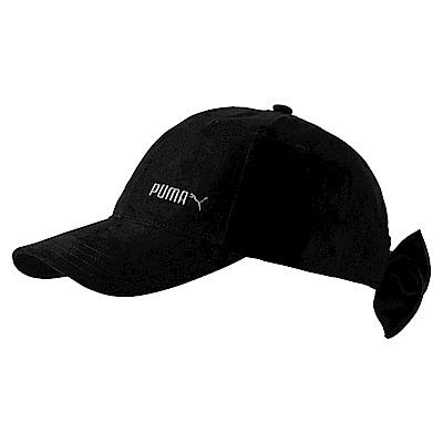 PUMA-女性蝴蝶結造型棒球帽-黑色