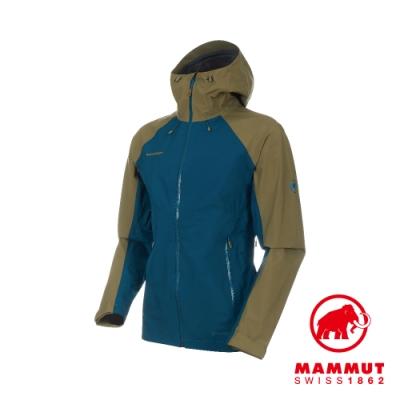 【Mammut 長毛象】Convey GTX 連帽外套 藍/綠 男款#1010-26032