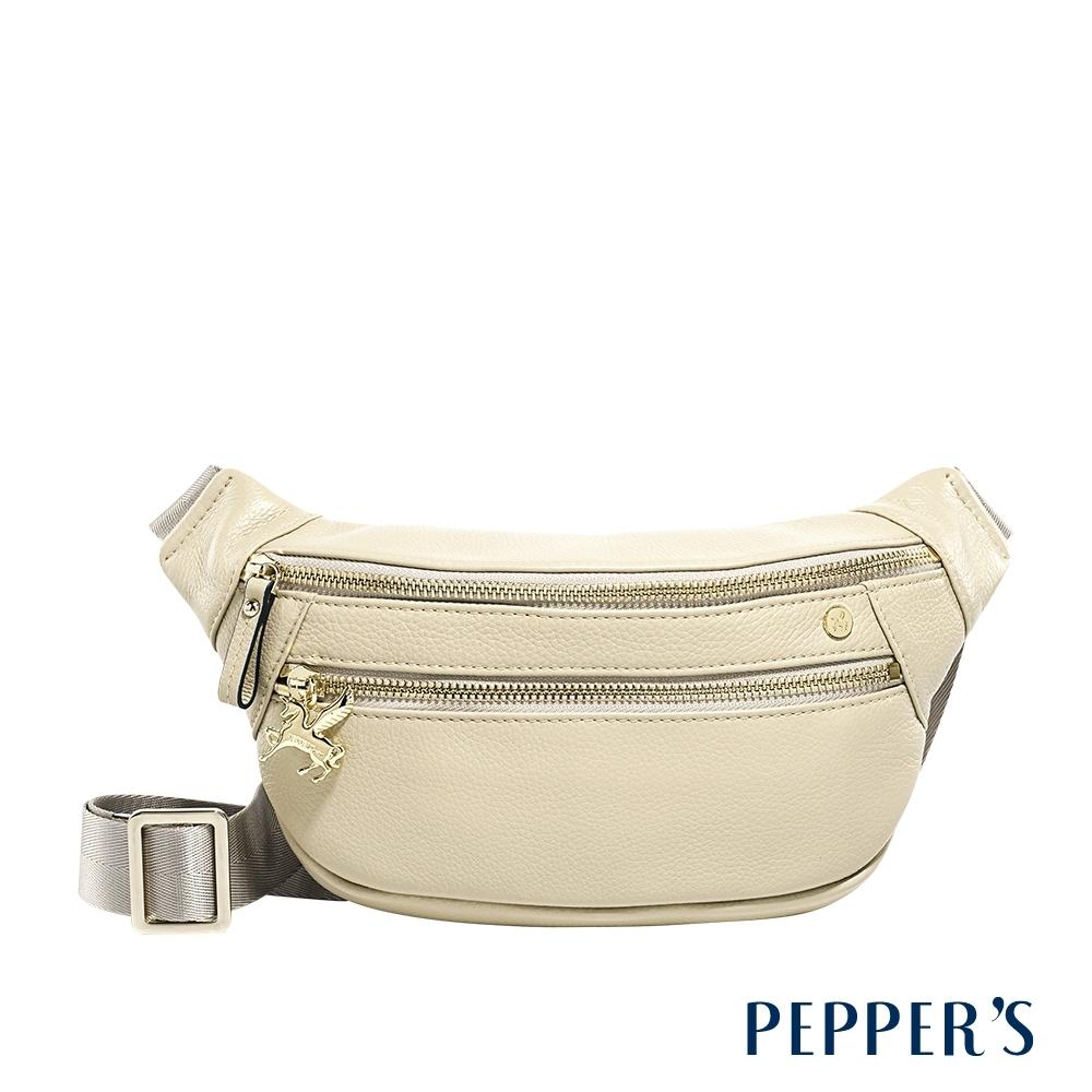 PEPPER'S Claire 牛皮單肩腰包 - 亞麻灰