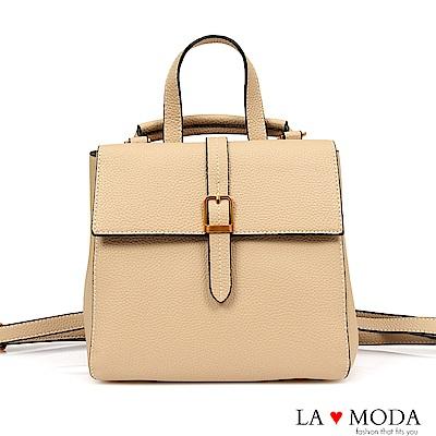 La Moda 旅行通勤必備多種背法肩背斜背後背包(杏)