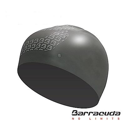 巴洛酷達 成人矽膠3D泳帽 銀 Barracuda 3D Silicone Cap