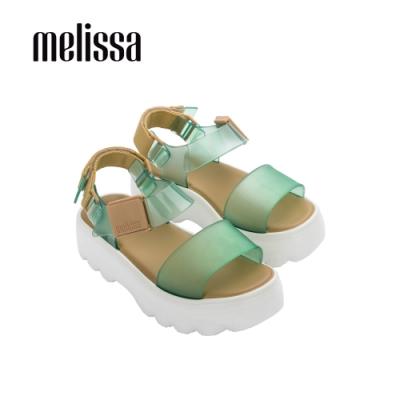 Melissa KICK OFF質感厚底涼鞋-綠