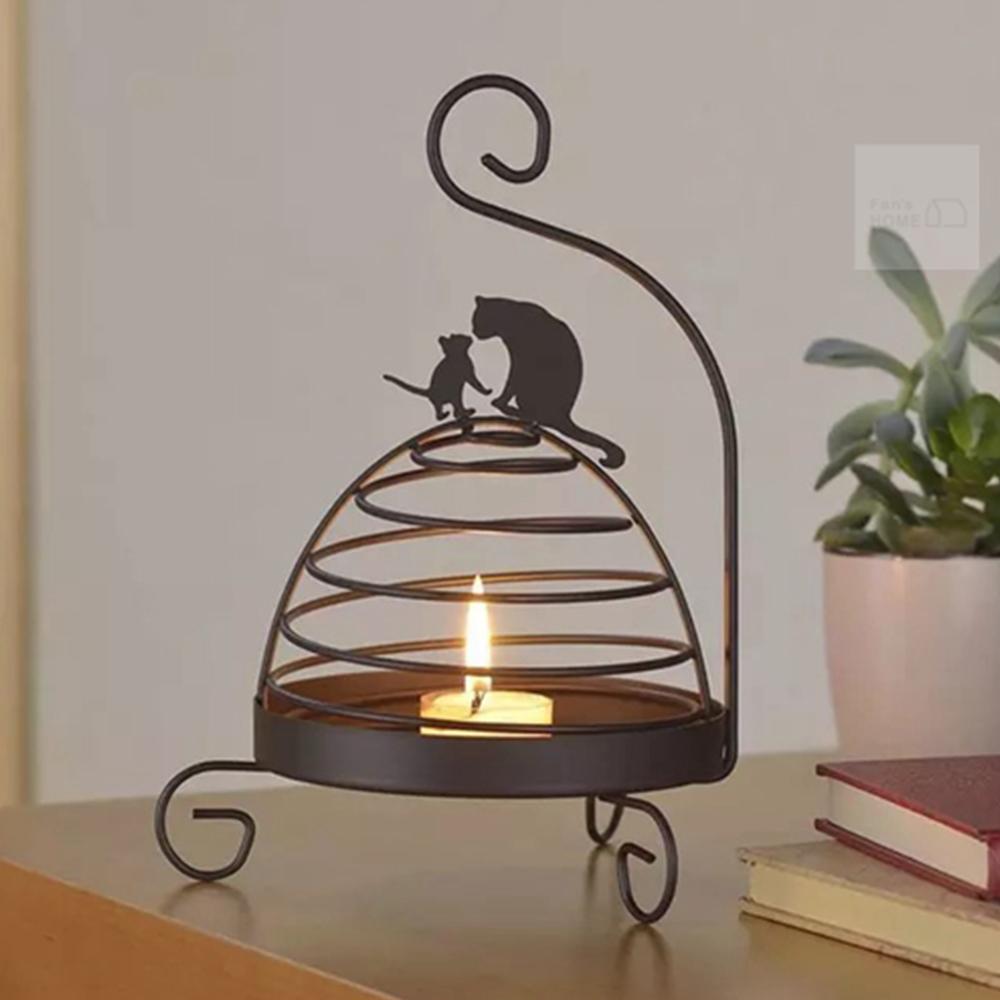 Meric Garden 復古創意手工金屬蚊香盤/薰香盤/小物收納盤(鳥籠貓咪)