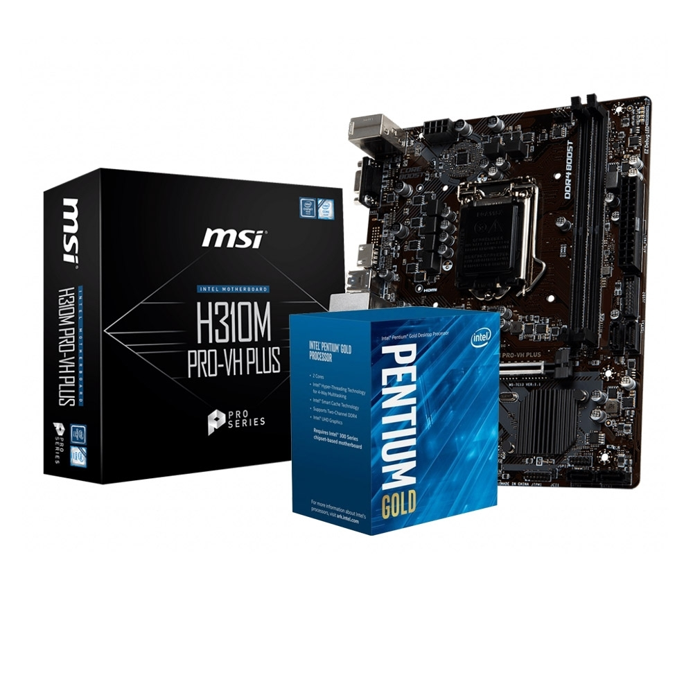 MSI微星 H310M PRO-VH PLUS + Intel G5400 組合套餐