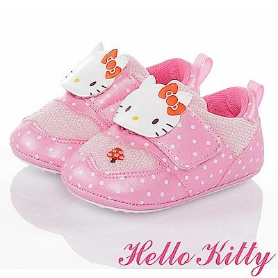 HelloKitty 森林系列 輕量透氣減壓寶寶學步童鞋-粉