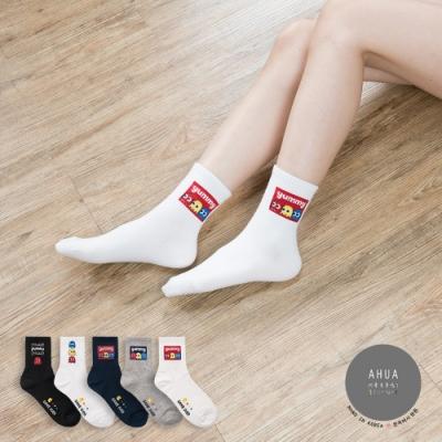 阿華有事嗎 韓國襪子 經典小精靈中筒襪  韓妞必備少女襪 正韓百搭純棉襪