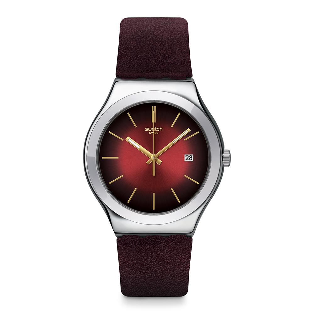 Swatch REDFLECT 酒紅印象手錶