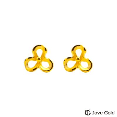 Jove Gold 漾金飾 溫婉氣質黃金耳環