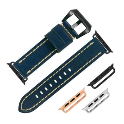 Watchband / 蘋果手錶替用錶帶 柔軟真皮錶帶 深藍色