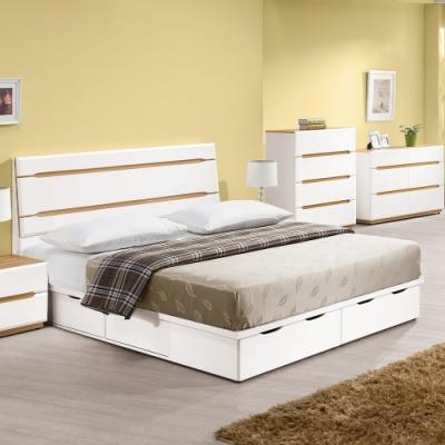 H&D 白色5尺六抽床底