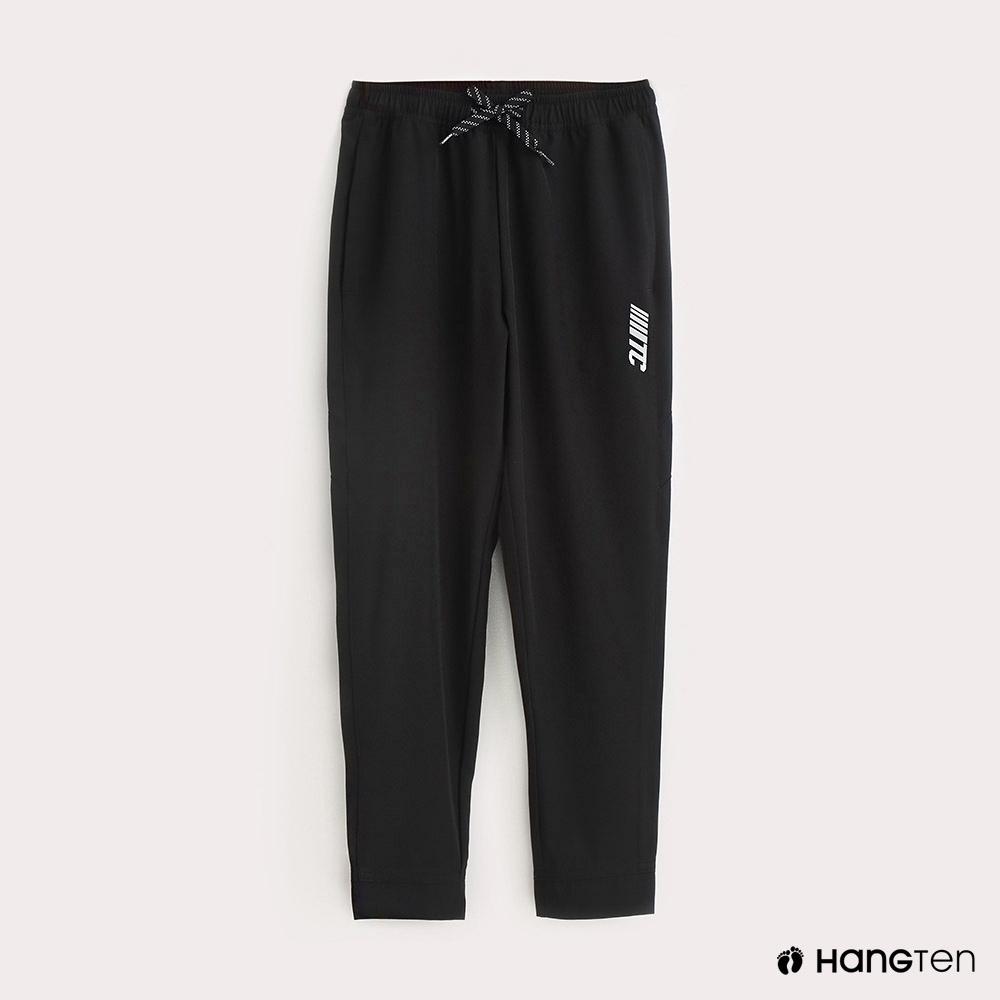 Hang Ten-ThermoContro-童裝純色綁帶機能束口長褲-黑