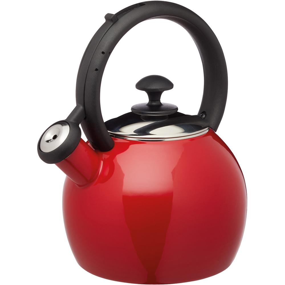 《KitchenCraft》琺瑯笛音壺(紅1.3L)