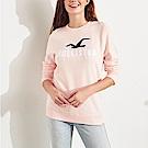 HCO Hollister 海鷗 經典刺繡大海鷗文字長袖T恤(女)-粉色