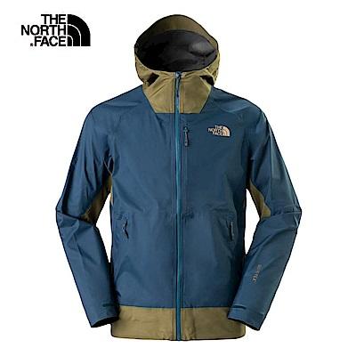 The North Face北面男款藍綠撞色防水透氣衝鋒衣|3L8A7GA