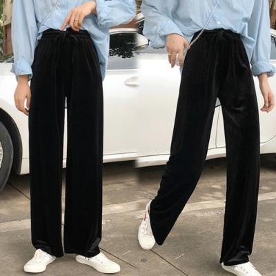 【韓國K.W.】(預購)美型氣象萬千閃耀顯瘦寬褲-2色