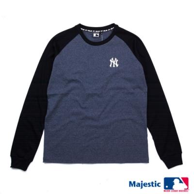 MLB-洋基能量圓領薄長T恤-深麻灰(男)