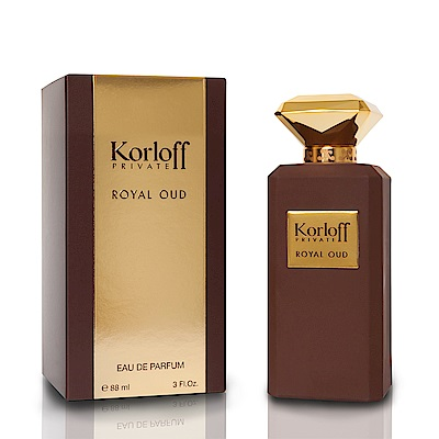 Korloff PRIVATE ROYAL OUD赭鑽神話男性淡香精88ml