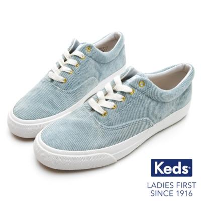Keds ANCHOR 燈芯絨綁帶休閒鞋-淺藍