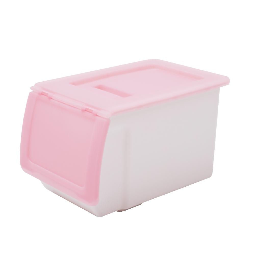 完美主義 掀蓋式收納箱/塑膠櫃/玩具箱-26L(3入組)(4色)