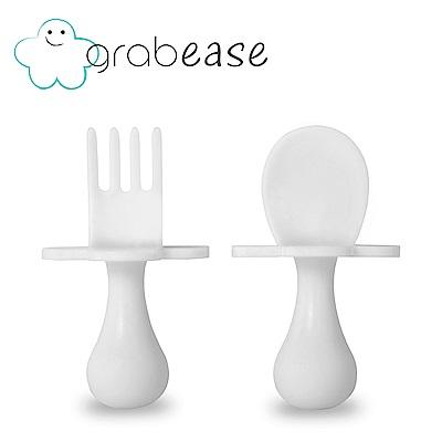 grabease 美國 嬰幼兒奶嘴匙叉組-珍珠白