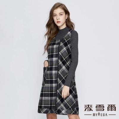 【麥雪爾】歐美風格紋印花背心洋裝