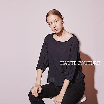 Haute Couture 高定系 設計款立體剪裁七分袖造型上衣-藏藍
