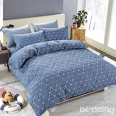 BEDDING-舒適系列海島棉6尺加大雙人薄式床包三件組-佛朗斯特