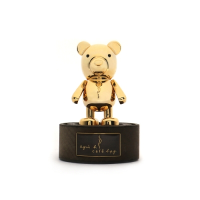 agnes b.barista 金色小熊吸鐵公仔