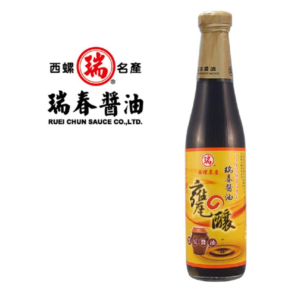 瑞春 甕釀黑豆醬油(十二瓶入)