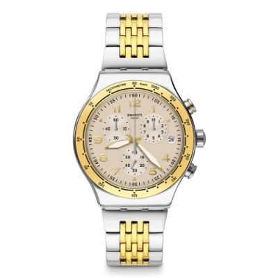 Swatch 金屬系列手錶 CASUAL CHIC 自在優雅計時腕錶-43mm