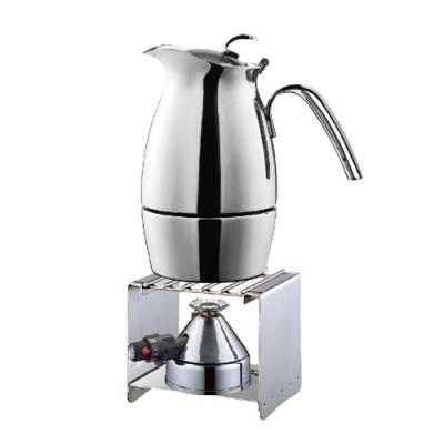 [Tiamo]雲雀摩卡壺<b>3</b>杯(HA2272)+方型爐架+咖啡迷你爐登山爐
