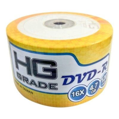 HG GRADE 空白光碟片 DVD-R 16X 4.7GB 光碟燒錄片(100片裸裝)
