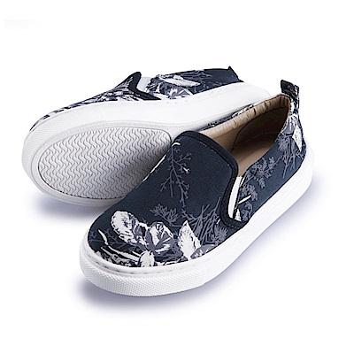 BuyGlasses 復刻花懶人童鞋-藍花
